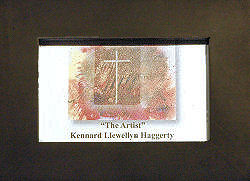 Desk package from Kennard Llewlleyn Haggerty includes At the Cross #5 in black wooden frame